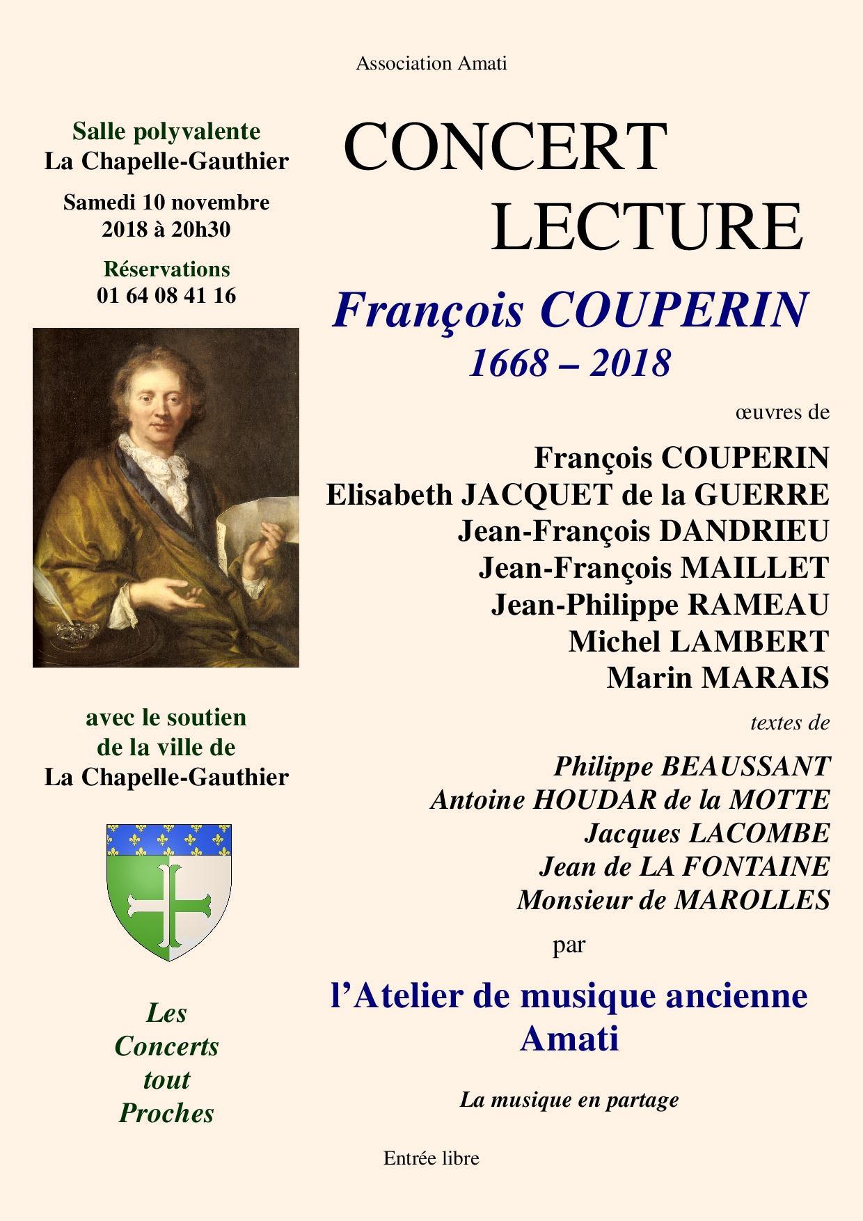 François COUPERIN 1668 - 2018