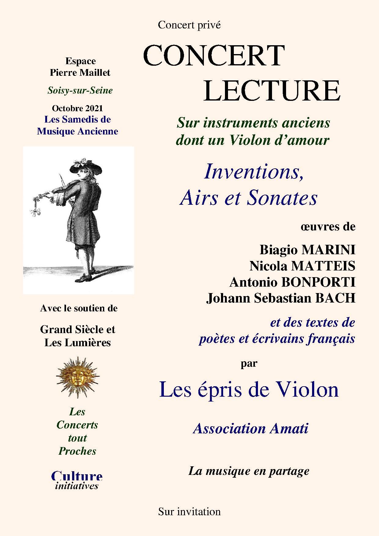 Inventions, Airs et Sonates