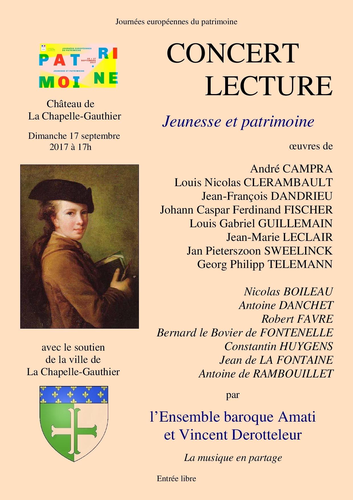 Concert-lecture La Chapelle-Gauthier