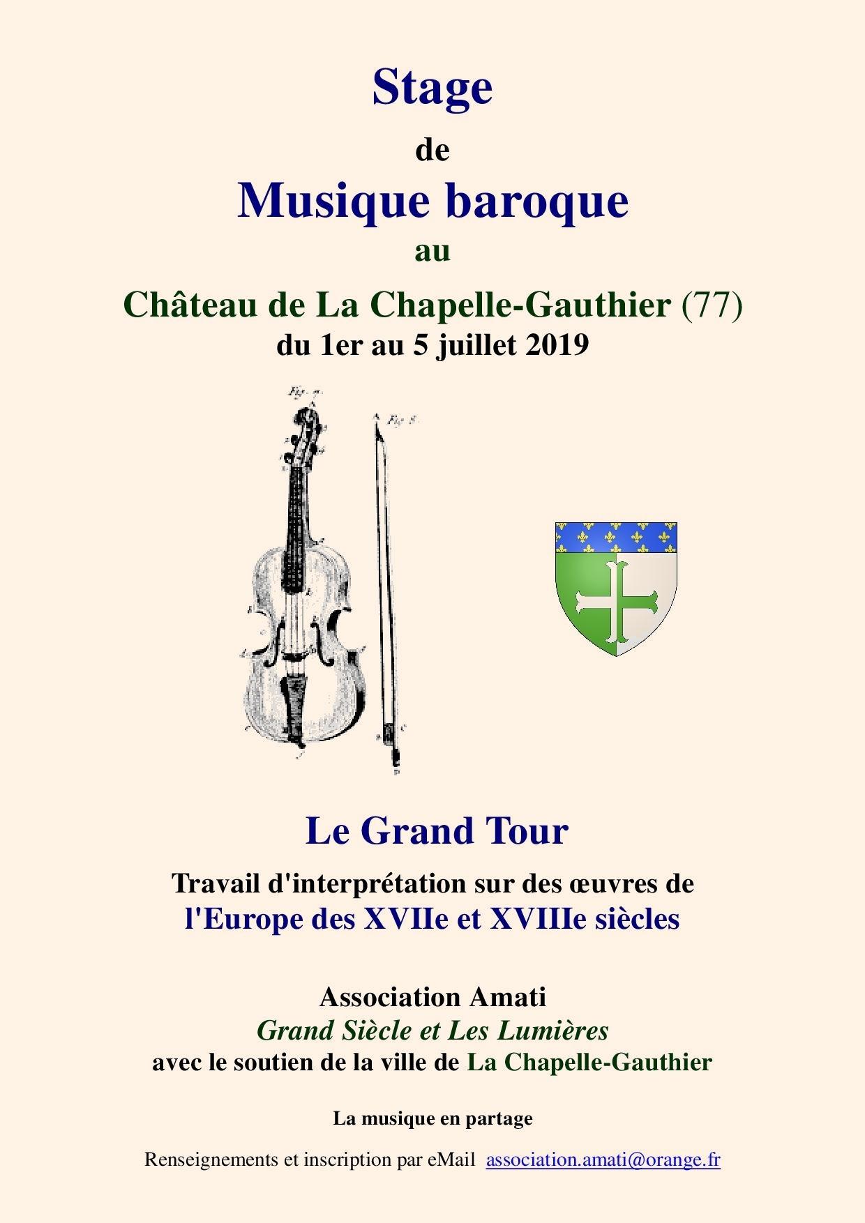 Stage de musique baroque 2019